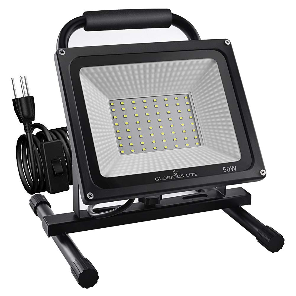 GLORIOUS-LITE 50W LED Work Light Stand