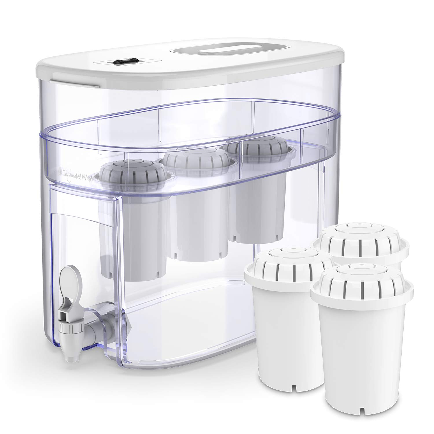 pH Recharge 3F Countertop Alkaline Water Filter Ionizer Plus 3-Pack Replacement Water Filters