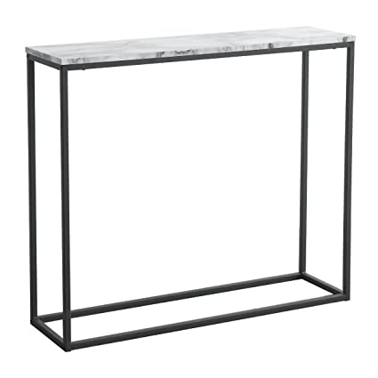 Amazon.com: Tilly Lin Modern Accent Faux Marble Console Table, Black ...