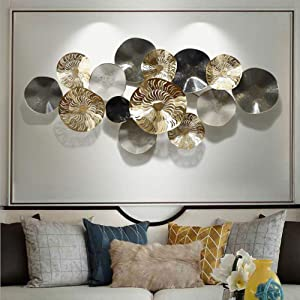 MKULOUS Metal Wall Art Decor Sculpture Living Room Kitchen Ornaments for Living Room, Office, Bedroom, Bathroom
