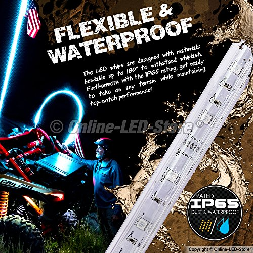 3ft-LED-Whip-Lights-wFlag-21-Modes-20-Colors-Wireless-Remote-Weatherproof-Lighted-Antenna-Whips-Accessories-for-ATV-Polaris-RZR-4-Wheeler