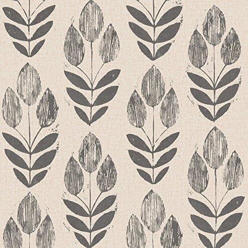 - NuWallpaper NU2459 Folk Tulip Neutral Peel & Stick Wallpaper,