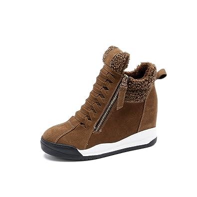 ce0c6f00c0 ohne Markenname Sportliche Sneaker Boots Keilabsatz High Top Wedges Hidden  Freizeitschuhe