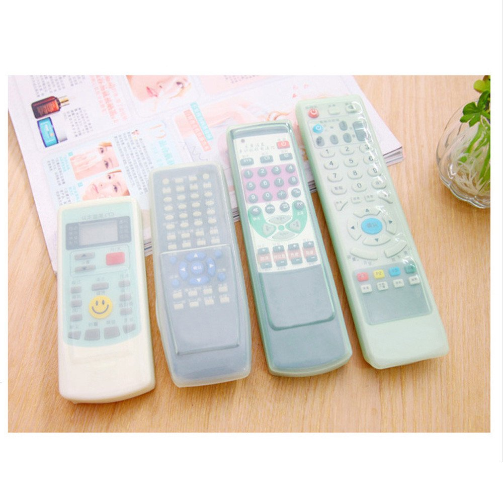 TV Remote Control Protective Cover Waterproof Dust-proof Silicone Transparent Protector Case for TV/Air Condition/Remote Controller (B)