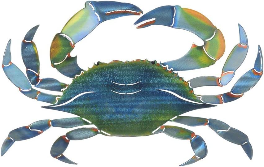 Next Innovations WA3DMEBLUECRAB CB Crab Refraxions 3D Wall Art, Eastern Blue