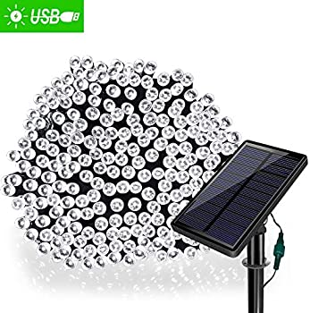 Solarmks Outdoor String Lights Solar Christmas 77 ft 220 Led