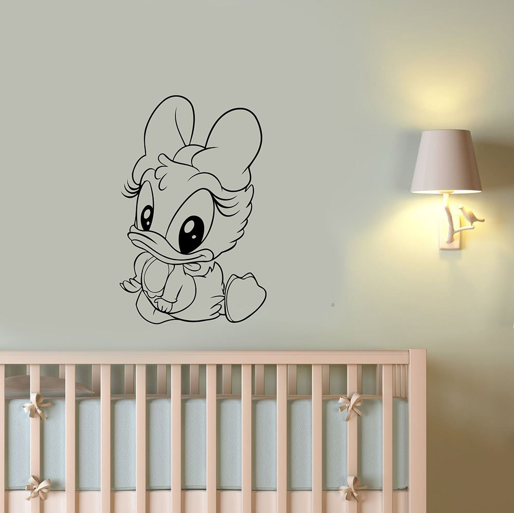 Baby Girl Wall Art Ideas Disney Wall Art Donald Duck Baby Girl Vinyl Decal Cartoon Animal Sticker  Decorations for Home Kids Room Nursery DuckTales Decor Ideas ddk5 - -  Amazon.com
