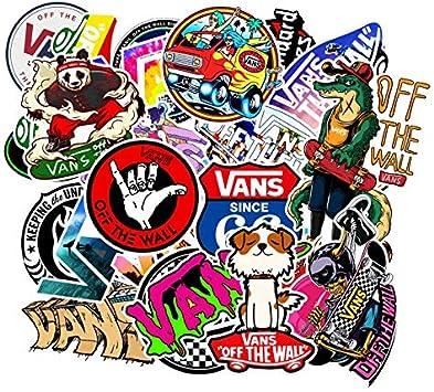 XZZ Logotipo de la Moda Vans Off The Wall PVC Pegatinas Niños ...