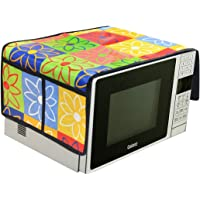 AEROHAVEN™ Designer Microwave Oven Top Cover with 4 Pockets(2 Each Side) Suitable for Any Brand. Capacity - 20-30 Litre(35.5 cms x 86 cms)