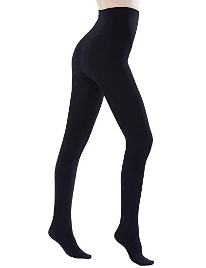 06abb2644d31e Sheeper Women's Fleece Lining Tights High Waist Push Up Nylon Leggings  Opaque Pant Slim Fit Winter
