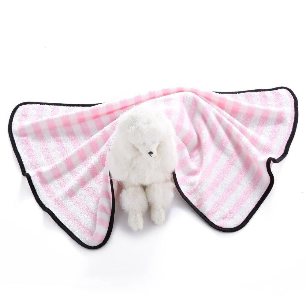 Huihuger Pet Blanket Materassino per Animali Domestici Letto per Gatti e Gatti Morbidi Trapuntati per Animali Carini e Gatti Che dormono Giocando a Riposo (rosa