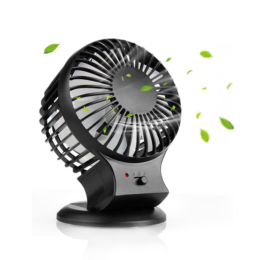 Mini Ventilador USB , Mixigoo Ventilador Portatil Recargable Bateria Ventilador Mini Fan con Aspas Gemelas Turbo Ventilador de Mesa Ventilador de PC Para ...