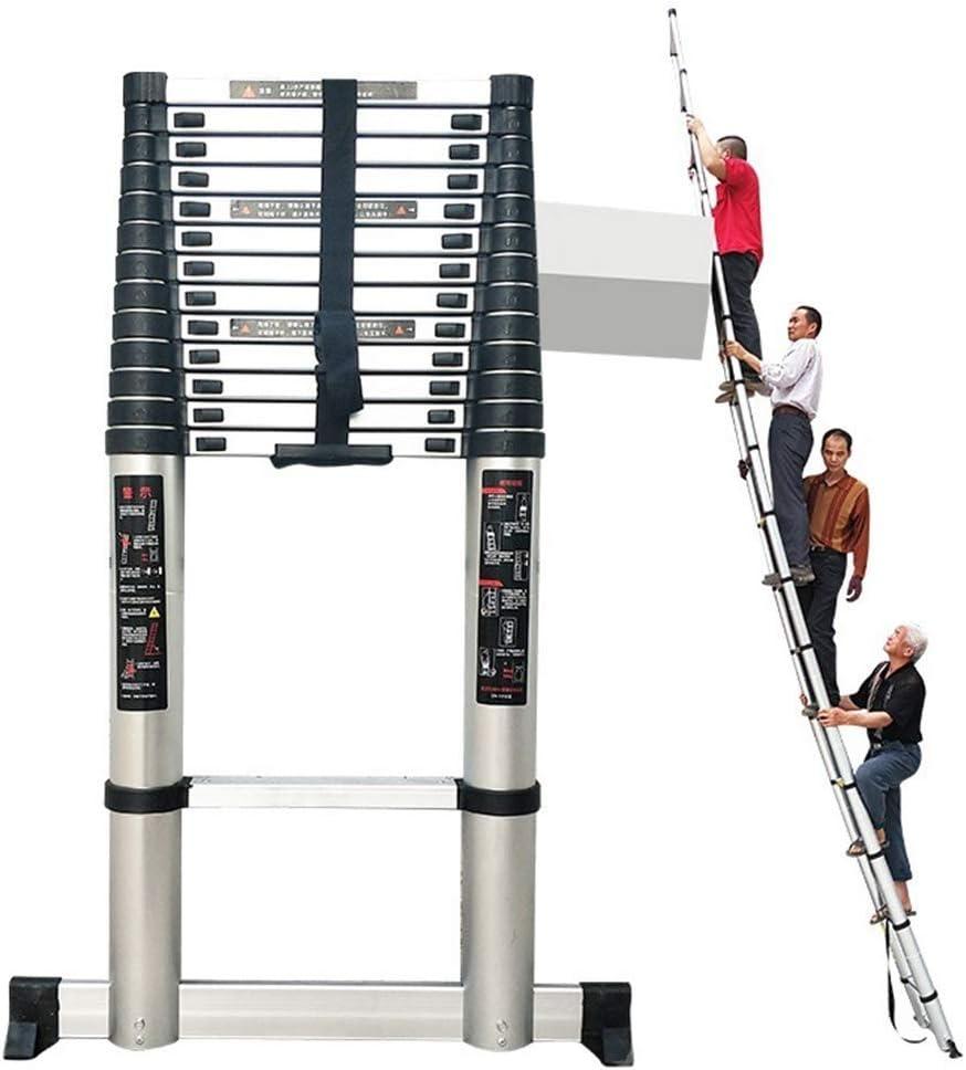 AA-SS Escalera Telescópica con Barra Estabilizadora, Escalera de Aluminio con Extensión Telescópica, Escalera de Uso Múltiple para el Hogar Diario o Hobbies, Carga 330 lbs.: Amazon.es: Hogar