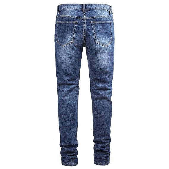 Pantalones vaqueros para hombre Vaqueros triturados for ...