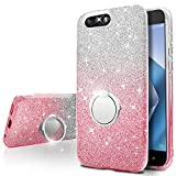 Asus Zenfone 4 Case,Silverback Girls Bling Glitter Sparkle Cute Phone Case With 360 Rotating Ring Stand, Soft TPU Outer Cover + Hard PC Inner Shell Skin for Asus Zenfone 4 ZC554KL -Pink Review