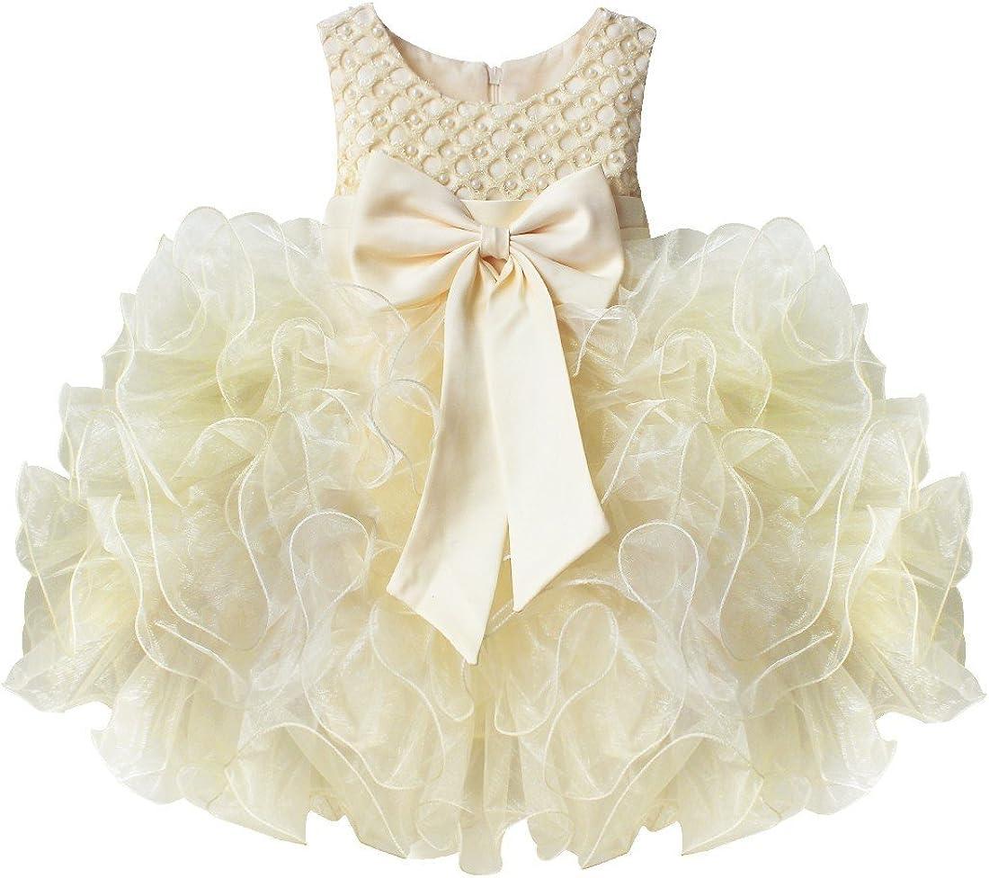 Tiaobug Baby Mädchen Prinzessin Kleid Blumenmädchen Party Kleid
