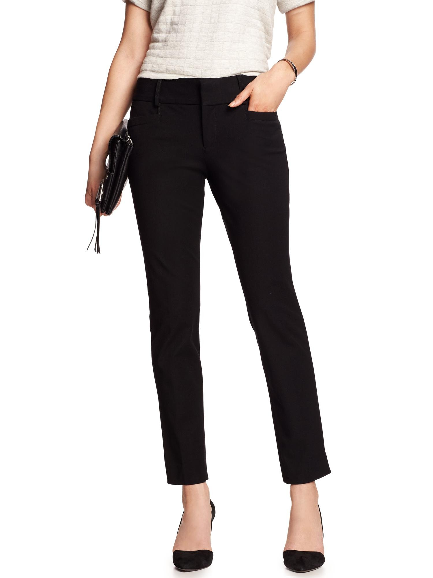 Banana Republic Women's Jackson-Fit Slim Ankle Pant Black Sz: 14
