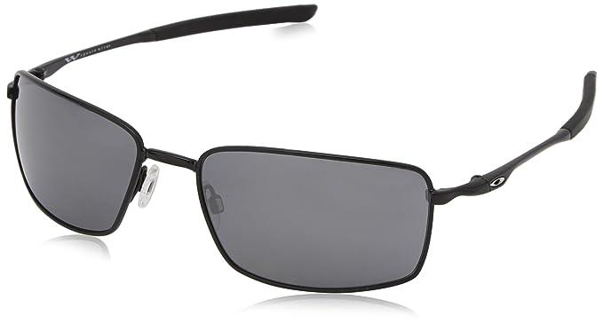 97b29ad702f Oakley Herren Sonnenbrille Square Wire Schwarz Black Iridium)