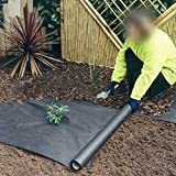 OriginA 1.5Oz Biodegradable Non-Woven Weed Barrier Fabric, Eco-friendly for Vegetable Garden Landscape(4.9x100ft,Black)