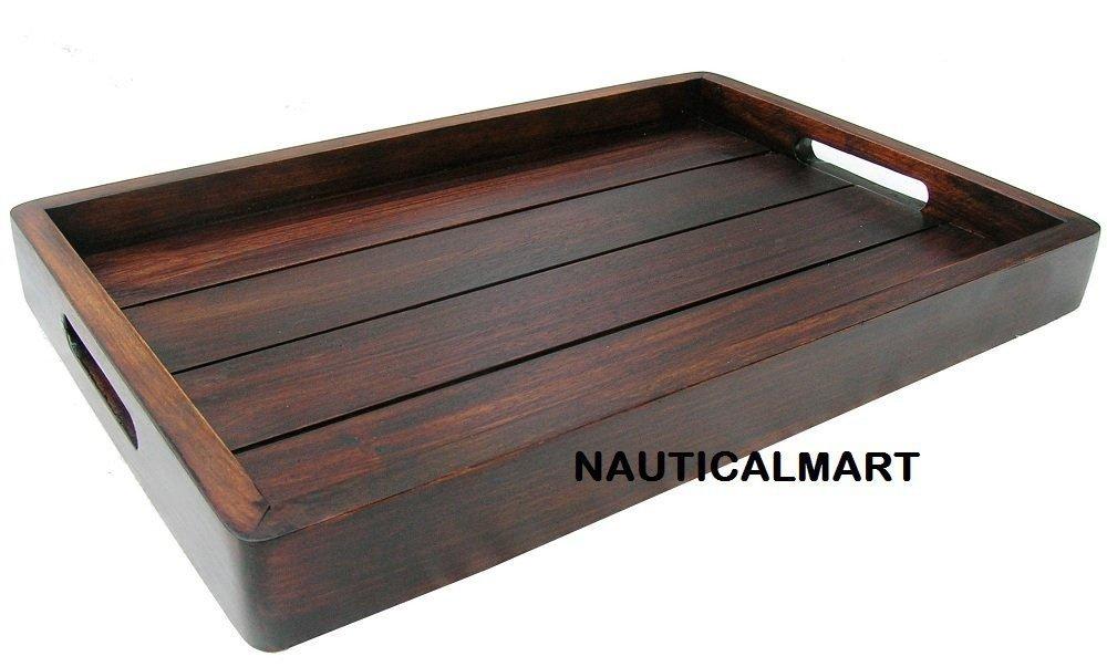 Nauticalmart Wooden Tea Coffee Serving Tray