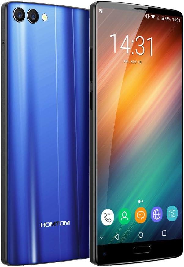 HOMTOM S9 Plus 4G Smartphone 5.99 Pulgadas Android 7.0 MTK6750T Octa Core 1.5GHz 4GB RAM 64GB ROM Cámaras Traseras Duales de 16,0MP + 5,0MP OTG Function Fingerprint Scanner-Azul: Amazon.es: Electrónica