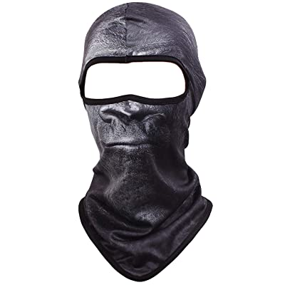 Kingree Balaclava Ski Mask, Motorcycle Helmets Liner Ski Gear Neck Gaiter, Animal Print Series Quick-Dry Mask (05 Kingkong-Calm): Automotive