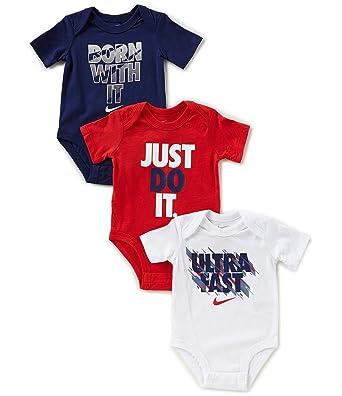 Nike Baby Boy Clothes Cool Amazon NIKE Baby Boys 60Pk Short Sleeve Bodysuits Blue Clothing
