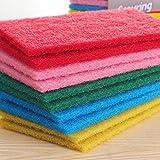 10pcs Colored Scrub Scouring Sponge Pads, Great for Kitchen dishwashing,Pot Cleaning Dish Scrub sponge
