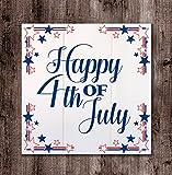 HADLEY HOUSE Happy 4Th of July Wood Box Board, 10x10