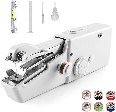 Cordless Portable Handy Stitch Machine for Beginner Handheld Mini Sewing Machine White, Travel Size