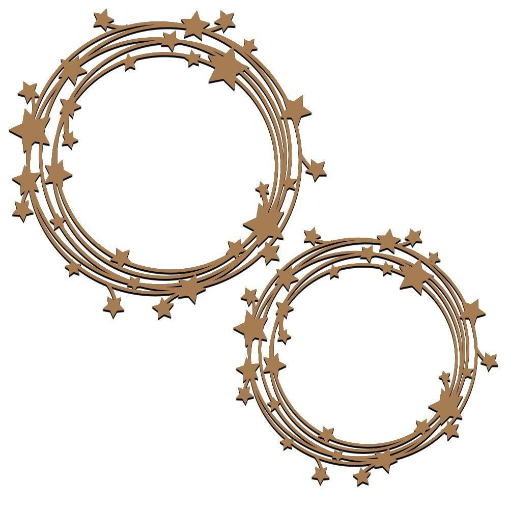 Stars in the Universe Frames Laser Cut Chipboard - 2 piece set Creative Embellishments