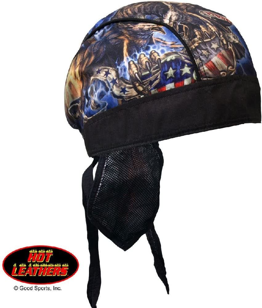 Patriotic American Eagle USA Biker Premium Headwrap Sweatband Vented Mesh Lined