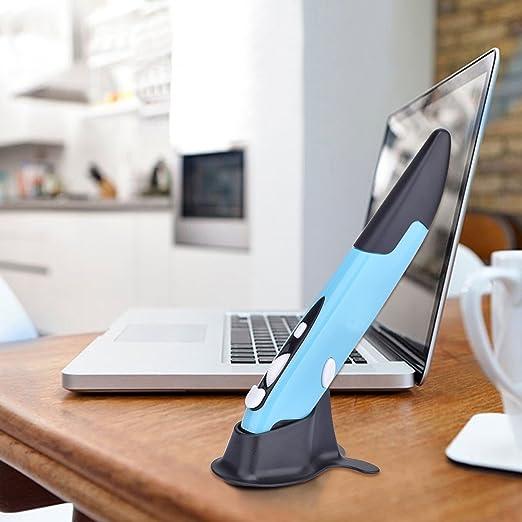 Ratón pluma Inalámbrica,SUAVER Ratón Óptico Portátil 2,4GHz Wireless Mouse con Receptor USB Nano DPI 1600/1200/800 Ratón de oficina para PC,Mac,Macbook,iMac ...