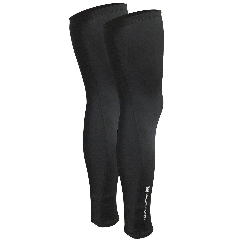 VeloChampion Thermo Tech Lite Cycling Leg Warmers Black