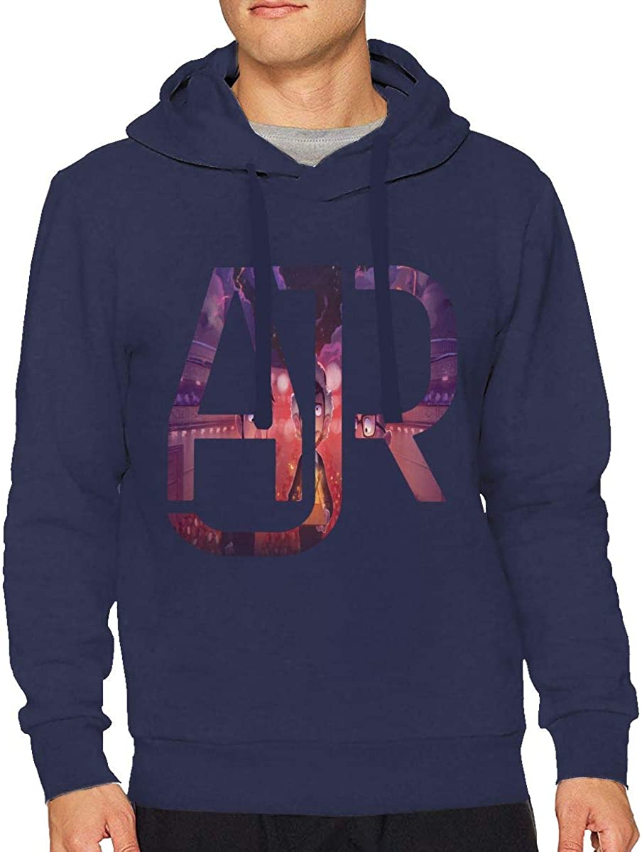 Mens AJR Long Sleeve Hooded Sweat Shirt Pullover XL Navy