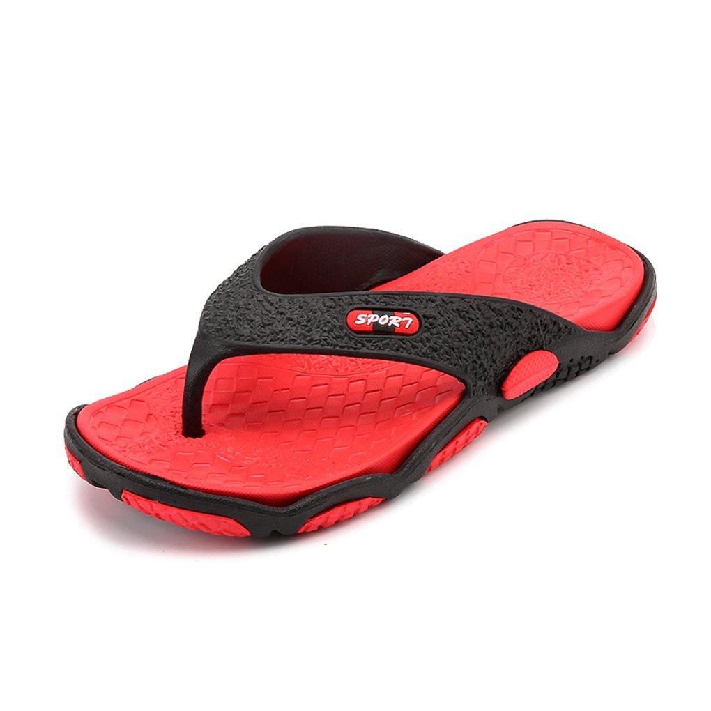 LemonGirl Mens Comfortable Hit Color Flip Flop Sandals Anti-Slip Summer Outdoor Beach Slippers HH201