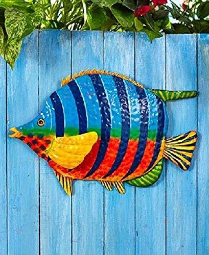 Fish Shape Tropical Metal Wall Art Sculpture Beach Theme Home Decor (Home Depot Halloween Clearance)
