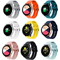 RIOROO Compatible for Samsung Galaxy Watch Active Bands/Active 2 Bands 40mm/42mm/44mm,Women Men Soft Slim Silicone…