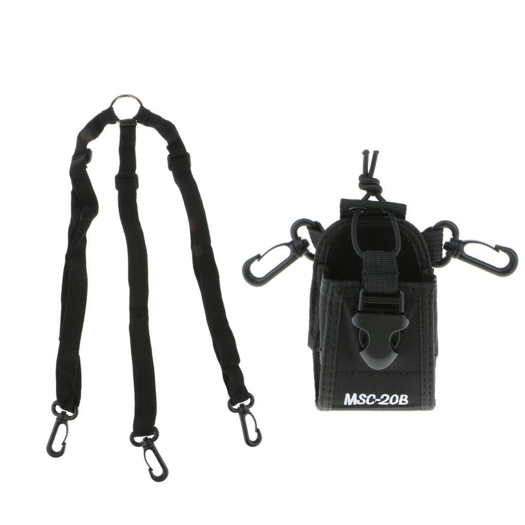 Fityle Walkie Talkie Accessories MSC-20B Holder Case Radio Bag for Baofeng UV-5R