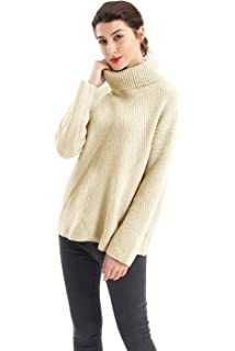 1ce4c1cced695b BodiLove Women's Mock Neck Pullover Fishermen Cable Knit Sweater at ...