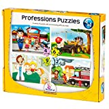 Puzzle Games For Toddlers Set Of 4 Puzzles For Ages 3 + Years Old an Increasing Difficulty Level - Professions Kids Activity Books