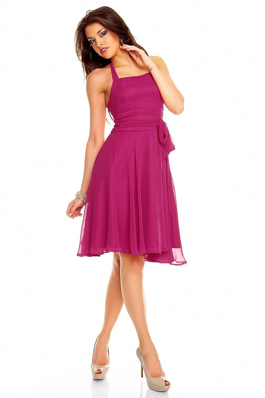 Neckholder Kleid aus Chiffon, Cocktailkleid, Farbe pink, Größe 38 ...