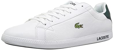f84a6a25bd0f5 Lacoste Graduate LCR3 White Green Leather Mens Trainers  Amazon.co ...