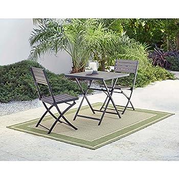 Amazon 3 piece composite wood outdoor bistro set garden outdoor 3 piece composite wood outdoor bistro set watchthetrailerfo