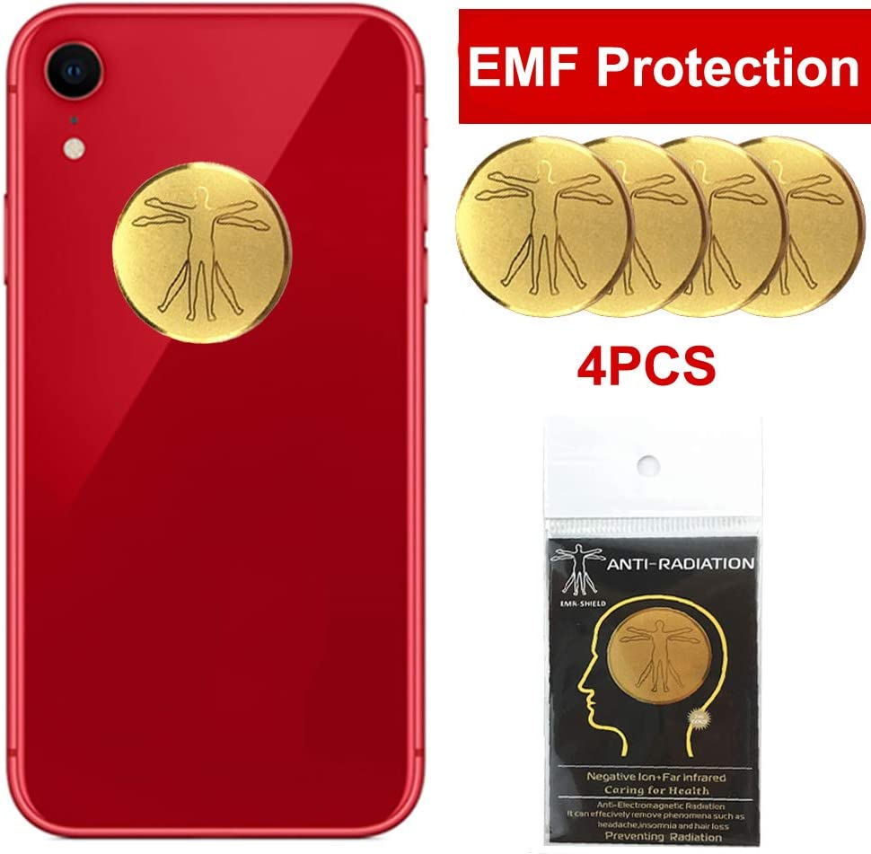 4Pcs - EMF Protection Cell Phone Sticker, Anti Radiation Protector Sticker, HUAGASION EMF Blocker for Mobile Phones, iPad, MacBook, Laptop and All Electronic Devices