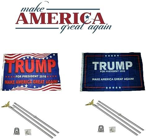 3x5 Trump 2016 /& USA American /& Republican #2 Wholesale Set Flag 3/'x5/'