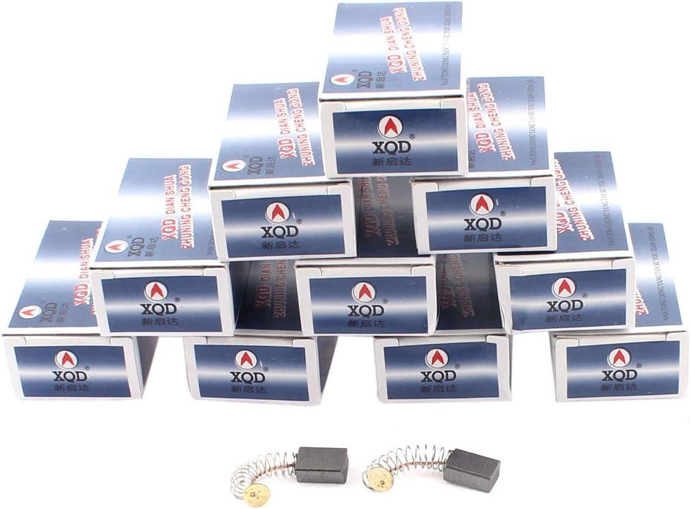 sourcingmap Escobillas de carb/ón del motor el/éctrico 10 pares 13mm x 8mm x 5mm CB-51 gen/érico