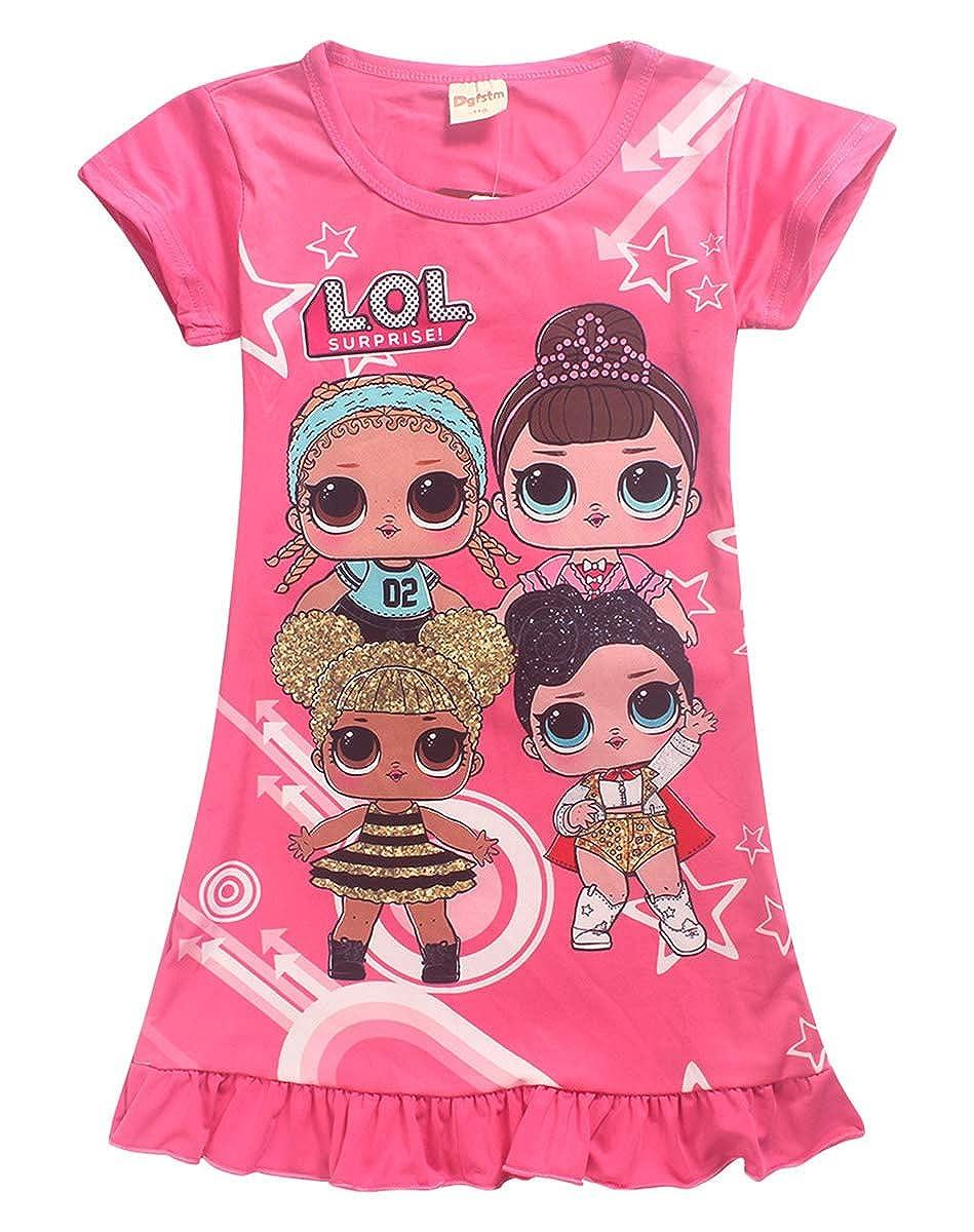 Vannie Bambole Sorpresa Bambine Abiti Pigiama Camicia da Notte Grembiule Gonna da Principessa Abiti da Sera Buoni Regalo per Le Ragazze Figlia dai 4 ai 10 Anni