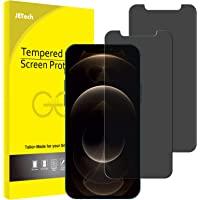 JETech Privacy Schermbeschermer Compatibel met iPhone 12 Pro Max 6,7 inch, Anti-Spy Gehard Glas Screen Protector, 2…