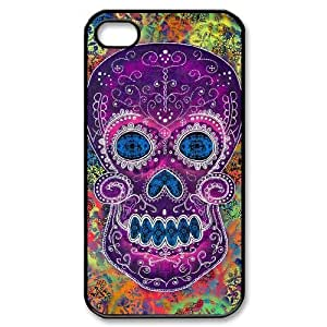 Sugar Skull Cell Phone Case for Iphone 6 4.7,diy Sugar Skull cell phone case